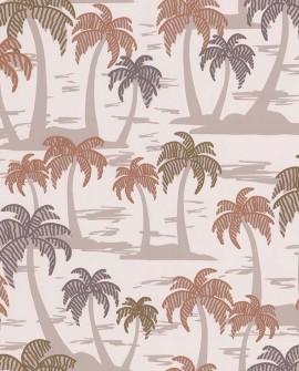 Papier peint jungle Lutèce Bensimon Palmiers fond Beige 51200907