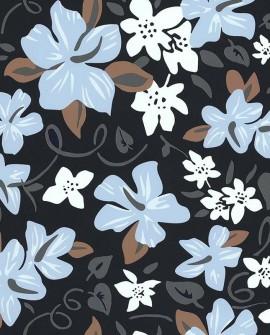 Papier peint exotique Lutèce Bensimon Hawai Bleu 51200701