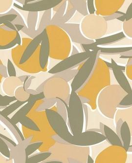 Papier peint exotique Lutèce Bensimon Agrumes Jaune 51200607