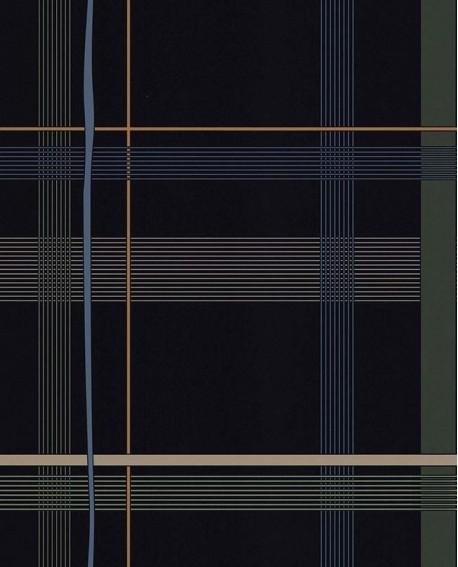 Papier peint exotique Lutèce Bensimon Carreaux Bleu 51200801