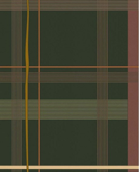 Papier peint exotique Lutèce Bensimon Carreaux Vert anglais 51200804