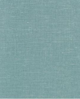 Papier peint uni Lutece Séjours et Chambres Toile Bleu turquoise 51195401