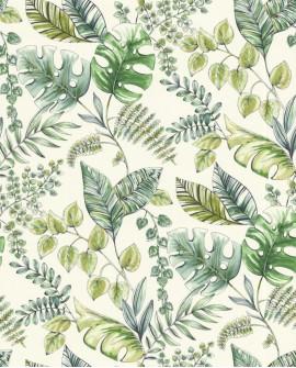 Papier peint tropical Lutece Séjours et Chambres Plantes Vert 51196204