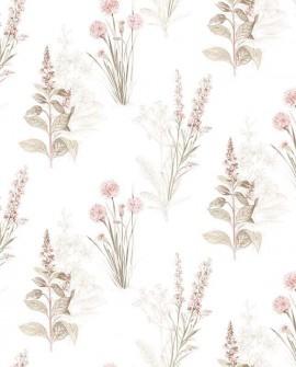 Papier peint Lutece Abby Rose 4 Fleurs sauvages rose AF37715