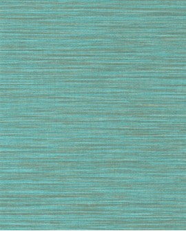Papier peint uni Wara imitation paille japonaise Turquoise WARA69586510