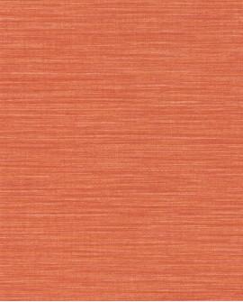 Papier peint uni Wara imitation paille japonaise Orange WARA69583135