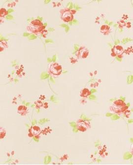 Papier peint Caselio Ashley Grandes Fleurs fond Beige 69361082