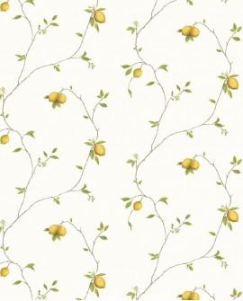 Papier peint Lutece Nouvelle cuisine Citron fond blanc G12082