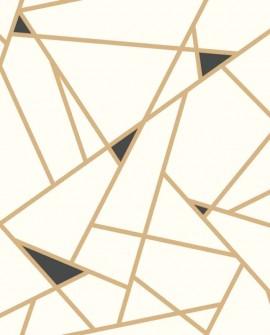 Papier peint York Prisme Or Noir RY2702
