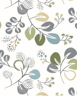 Papier peint scandinave Lutece Séjours et Chambres Feuillage naif Vert FD25123