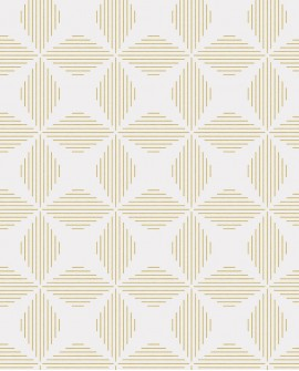 Papier peint géométrique Lutece Séjours et Chambres Telestar doré FD25509