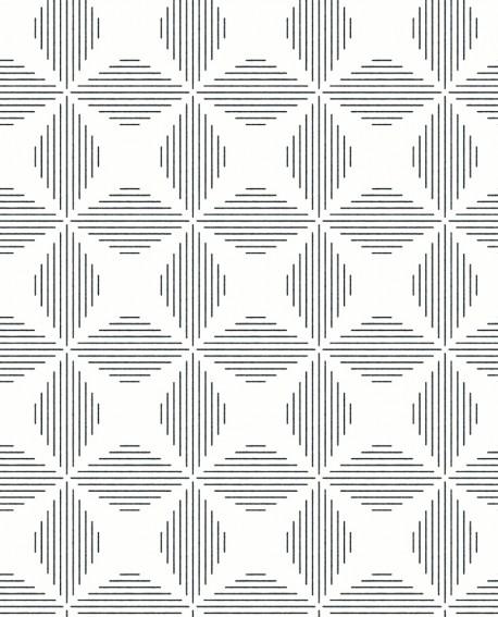 Papier peint géométrique Lutece Séjours et Chambres Telestar noir FD25510