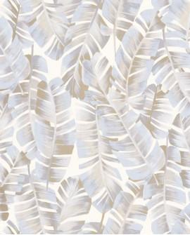 Papier peint tropical Botanica Casadeco Folium Beige lin BOTA85941209