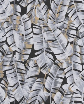 Papier peint tropical Botanica Casadeco Folium Noir BOTA85949852