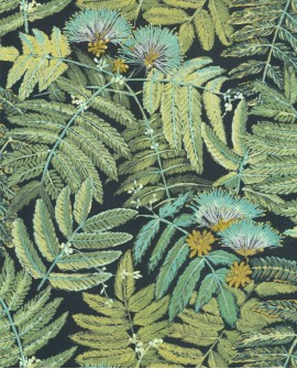 Papier peint tropical Botanica Casadeco Albizia Vert menthe BOTA85897247