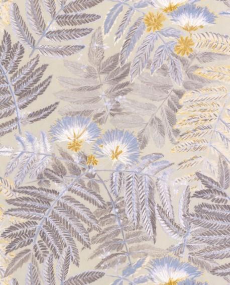 Papier peint tropical Botanica Casadeco Albizia Beige BOTA85891423