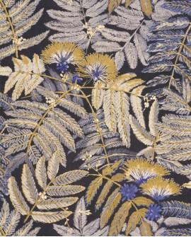 Papier peint tropical Botanica Casadeco Albizia Jaune cury BOTA85892175