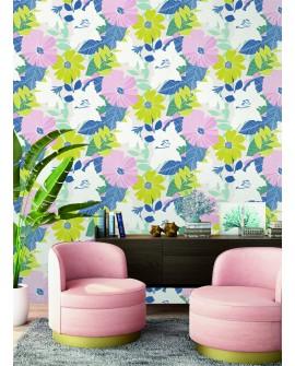 Papier peint floral Lutece Séjours et Chambres Naive flowers 51194803