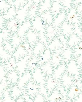 Papier peint enfant Lutèce Tartine & Chocolat Envolée Fleurie Vert 36200704