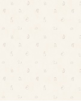 Papier peint enfant Lutèce Tartine & Chocolat Animaux Beige 36200107