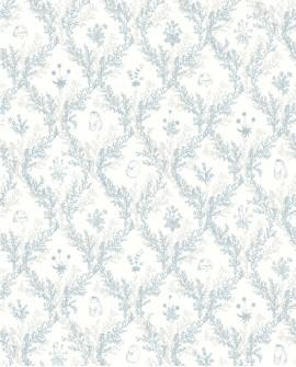 Papier peint enfant Lutèce Tartine & Chocolat Toile de Jouy Bleu 36200201