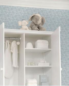 Papier peint enfant Lutèce Tartine & Chocolat Feuillage iodé Bleu 36200301