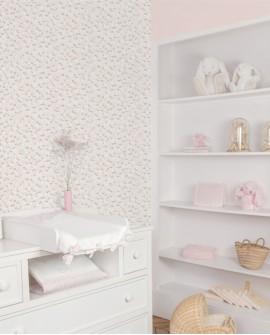Papier peint enfant Lutèce Tartine & Chocolat Petite fougère Rose 36200603