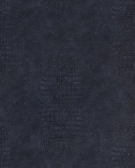 Papier peint Lutèce Sauvage Crocodile Bleu/Noir G67507