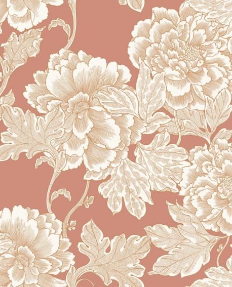 Papier peint floral Caselio Dream Garden Romance Terracota DGN102264049