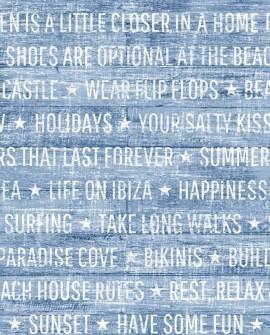 Papier peint Esta Home Cabana Summer Wood Bleu 148643