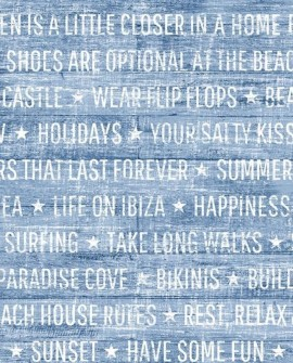 Papier peint Rasch Cabana Summer Wood Bleu 140-148643