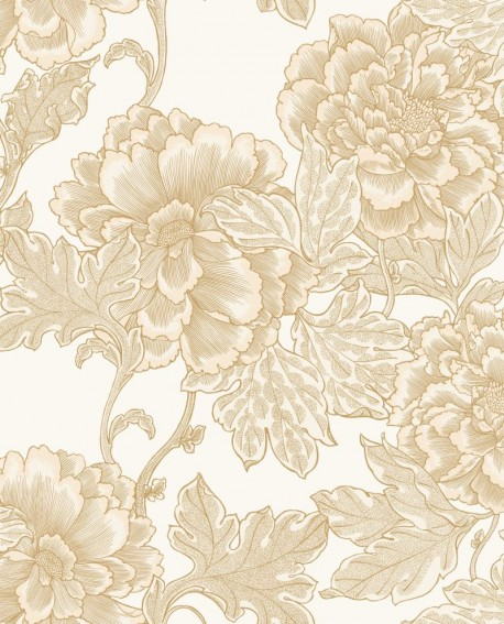 Papier peint floral Caselio Dream Garden Romance Beige doré DGN102261020
