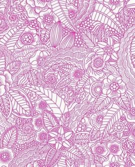 Papier peint Rasch Cabana Flower Fuchsia 140-148614