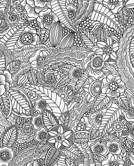 Papier peint Rasch Cabana Flower Noir 140-148616