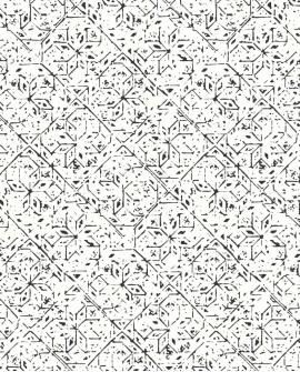 Papier peint ethnique Lutece Bamako Carreaux de ciment Noir G78334