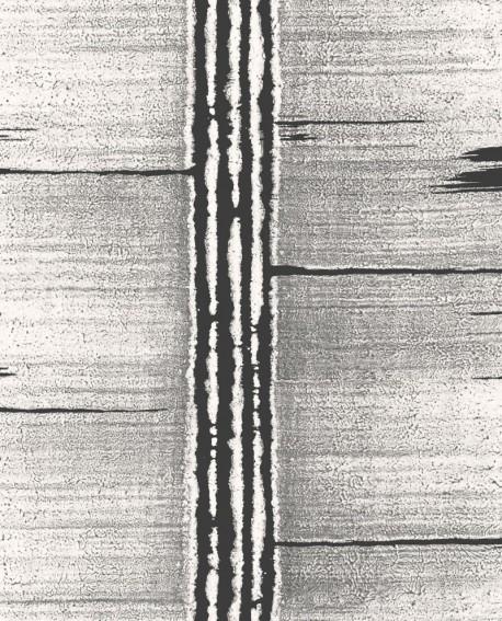 Papier peint Lutece Bamako Ecorce Noir et gris G78283