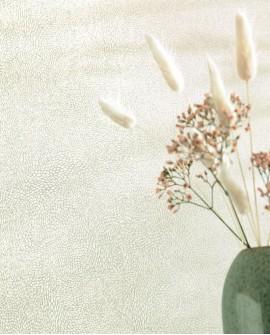 Papier peint fleurs Caselio Flower Power April argenté FLP101849090
