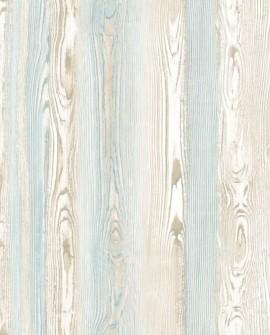 Papier peint Rasch Cabana Planches Beige et bleu 140-148625