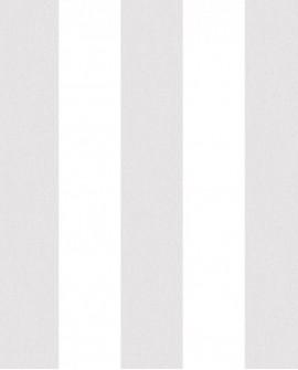 Papier peint Lutèce Jeux de Rayures 2 Rayure Gris et blanc G67581