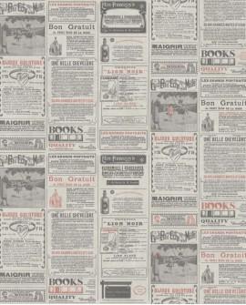 Papier peint exotique Caselio Newspaper Rouge WRD67138011