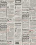 Papier peint Caselio Newspaper Rouge WRD67138011