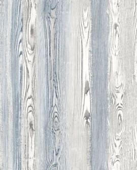 Papier peint Esta Home Cabana Planches Beige et bleu marine 148626
