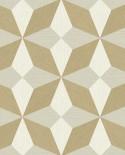 Papier peint géométrique Lutèce Architecture Géo Paille doré FD25302
