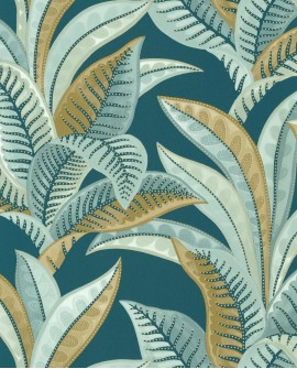 Papier peint exotique Caselio Sea You Soon Vitamin Sea Bleu nuit SYO102766664