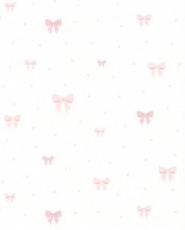 Papier peint enfant Lutèce Tartine & Chocolat Joli nœud coloris Rose 11130203