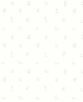 Papier peint enfant Lutèce Tartine & Chocolat Animaux gris 36200109