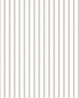 Papier peint Lutèce Jeux de Rayures 2 Rayure Marinière Grège et blanc G67537