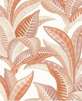 Papier peint exotique Caselio Sea You Soon Vitamin Sea Corail SYO102763465