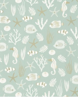 Papier peint exotique Caselio Sea You Soon Selfish Bleu SYO102807088