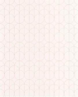 Papier peint géométrique Casadeco 1930 Reflet Blanc MNCT85690020